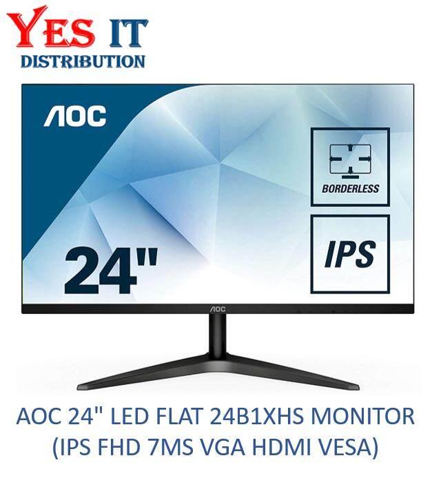 AOC 24 LED FLAT 24B1XHS MONITOR (IPS FHD 7MS VGA HDMI VESA) Malaysia