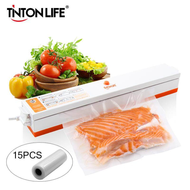 Tintonlife 220v Household Food Vacuum Sealer Packaging Machine Film Sealer Vacuum Packer Including 15pcs Bags By Tinton Life Official Store.