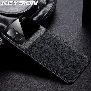 Ốp Chống Sốc KEYSION Cho Samsung A71 A51 A70 A50 Ốp Lưng Điện Thoại Mặt Kính Cường Lực Tráng Gương A20 A10, Dành Cho Galaxy A50S A30 S thumbnail