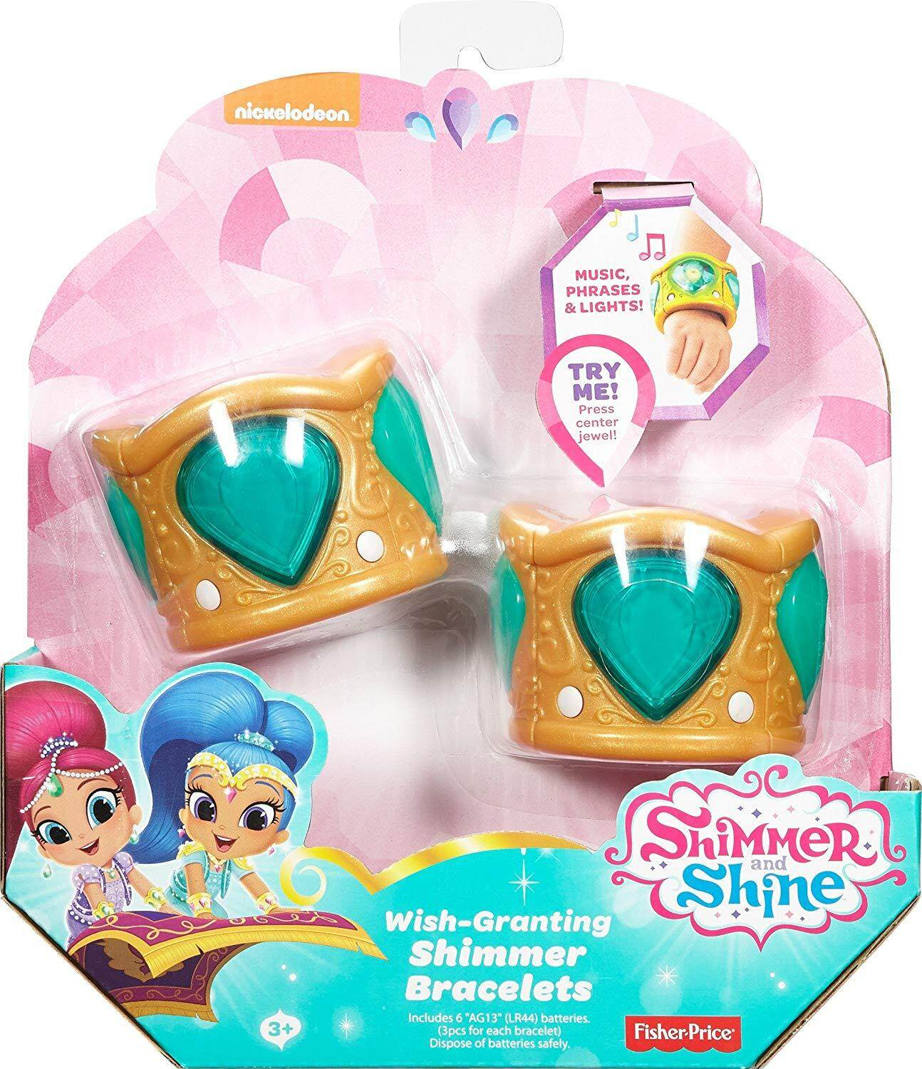 Shimmer And Shine Wish-Granting Shine Bracelets - Mint (dky97) By Mattel Malaysia.