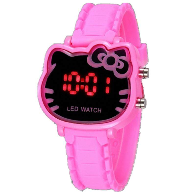 [CNY 2020] Hello Kitty Fashion Kids Watch LED Digital Girls Watches Women Ladies Bracelet Cute Cartoon Silica Strap Children Waterproof Quartz Wristwacthes Gifts Malaysia
