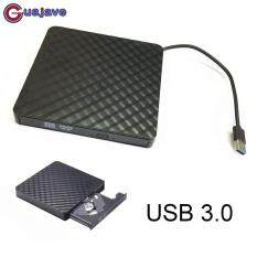 Guajave Di Động USB3.0 Bên Ngoài ĐĨA CD/DVD/VCD Ổ Đĩa Quang CD-RW Nhà Văn Đầu Ghi Trình Điều Khiển cho MÁY Tính, Laptop