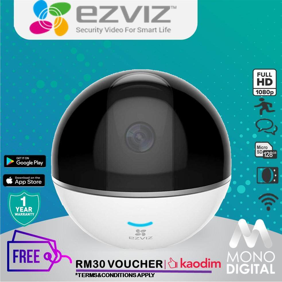 EZVIZ C6TC 2MP 1080P HD IP Camera CCTV IP Cam C6T Home Monitoring Night  Vision, Two-Way, Talk Pan and Tilt Wi-Fi Indoor Camera + Free Kaodim  Voucher