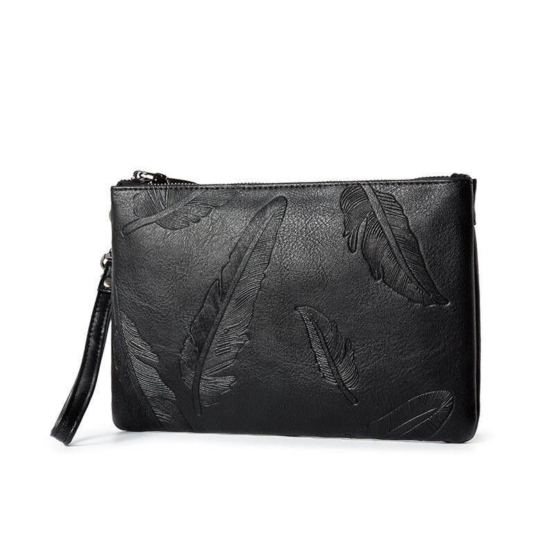 cb41d5abb 100% Genuine Leather Handbag Business Clutch Wallet Purse Messenger Bag  Shoulder Bag Crossbody Bag