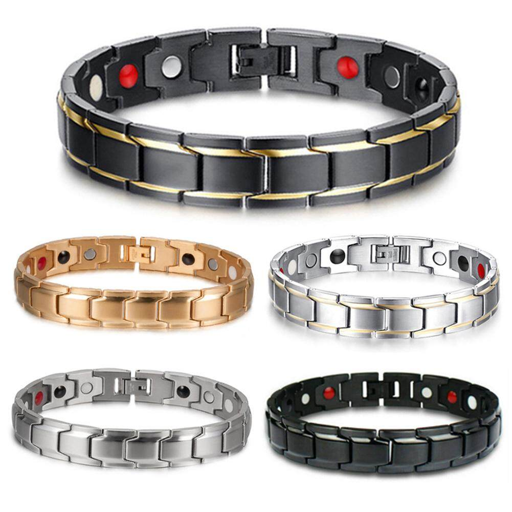 Therapeutic Energy Healing Bracelet Stainless Steel Magnetic Therapy Bracelet By Akefun.