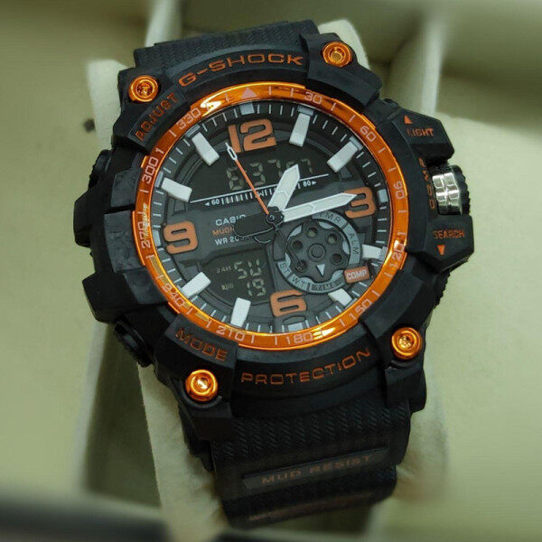 Special Promotion New Sport_Casio_Shock_Dual Time Dual Time Display Fashion Casual Watch For Men Ready Stock 100% Mineral Glass New Design Malaysia