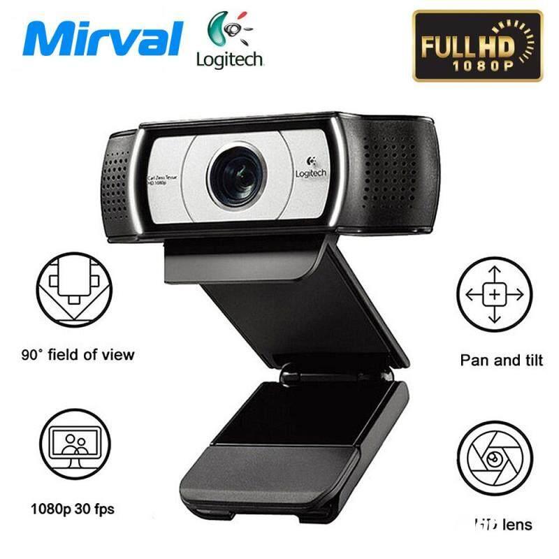 Mirval Original Logitechs C930E HD Camera Live Network Video Conference Wide Angle 1080P 4Time Digital Zoom Laptop Desktop Computer Camera