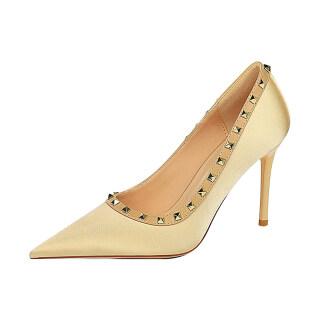 Womens Rivet High Heels Sexy Pointed Toe Stilettos Dress Party Pump Shoes thumbnail