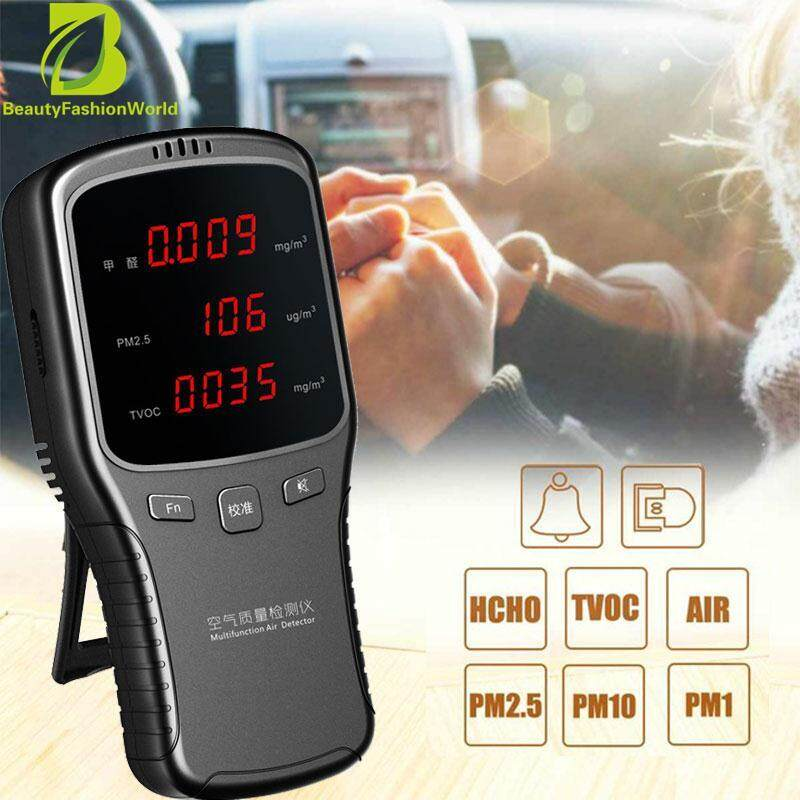 BeautyFashionWorld LED Display Portable Durable Practical Formaldehyde Detector Air Quality Detector Smog Detector Air Detector PM2.5 Smart Monitor Household Air Quality Tester