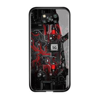 Ốp Honinga Cho Xiaomi Poco X3 Ốp NFC Thiết Kế Bảng Mạch Công Nghệ Sáng Tạo Ốp Lưng Điện Thoại Bằng Kính Cường Lực Ốp Lưng Ốp Cứng Cho Nam thumbnail