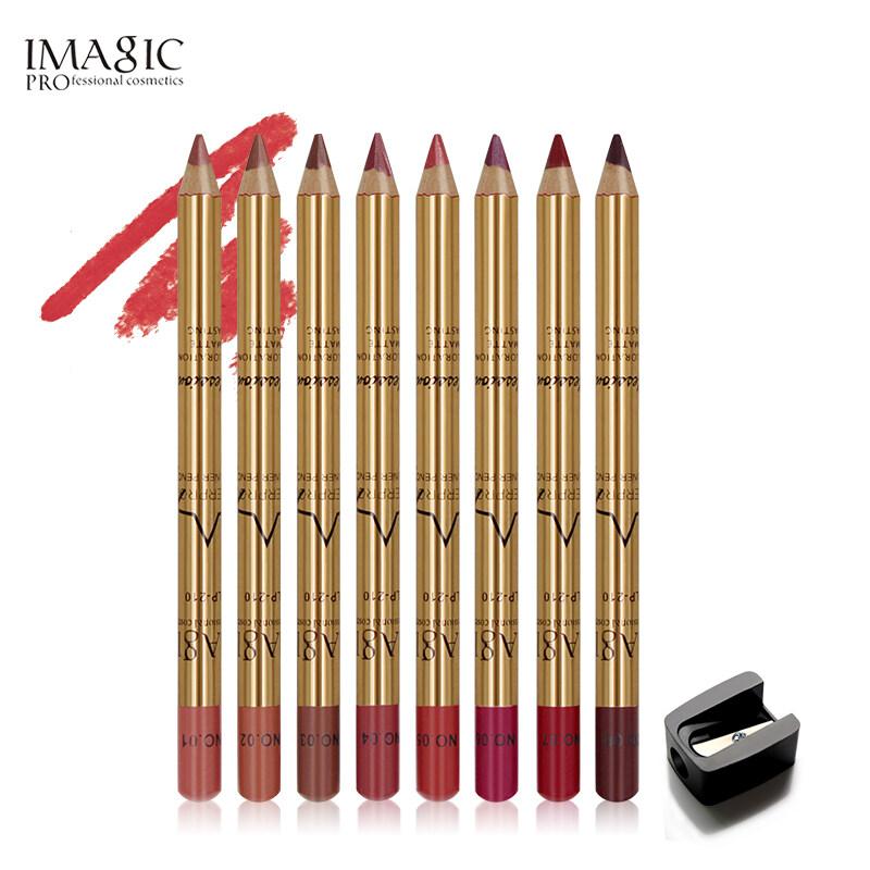 Bộ 8 cây bút chì kẻ viền môi chuyên nghiệp Imagic không thấm nước và lâu trôi - INTL