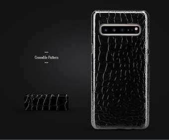 CAPAS สำหรับ Samsung Galaxy S10 5G เคสพีซีแบบหนาพลาสติกเคสโทรศัพท์บลิงบลิง 3D คาร์บอนรูปแบบเคสโทรศัพท์ 6.7 นิ้ว SM-G977U, SM-G977N,SM-G977B