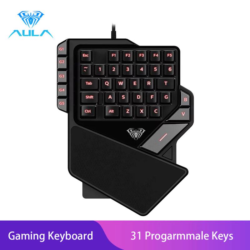 YFD AULA K2 Gaming keyboard one-hand cool light gaming keyboard Singapore
