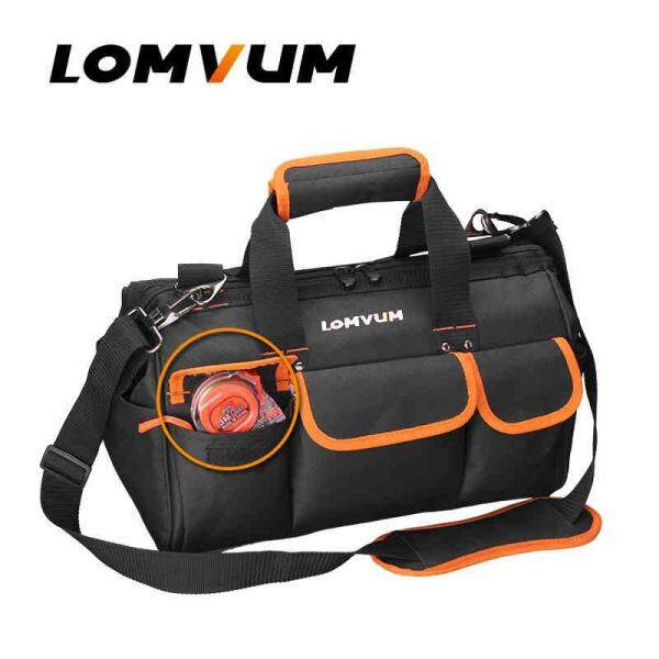 LOMVUM Multifunction Durable Tool Bag Hardware Mechanics Canvas Waterproof Electrician Shoulder Belt