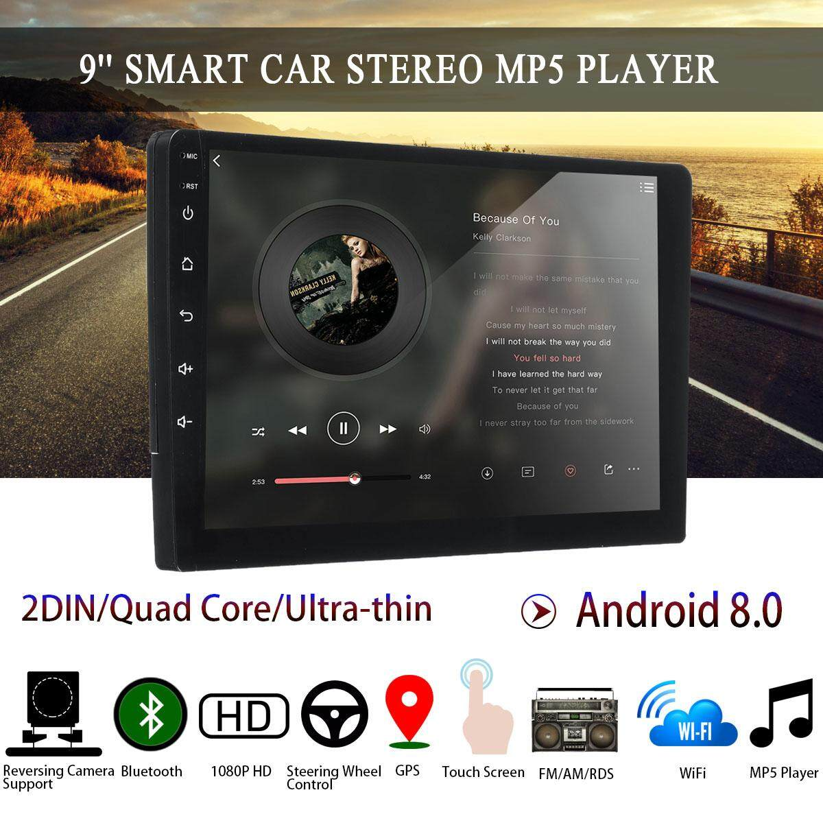 【free Shipping + Super Deal + Limited Offer】9 Android 8.0 Ultra-Thin Car Stereo 2din Quad Core Radio Wifi Mp5 Player Gps By Haldis.