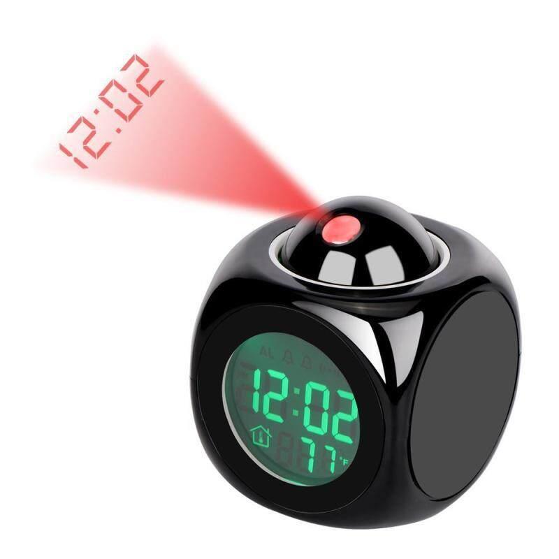 Johome Sáng Tạo Sinh Nhật Tặng USB Giọng Nói Tiếng Anh Chiếu Thời Gian Đồng Hồ Đa Chức Năng Sáng Tạo Phòng Ngủ Để Bàn Kỹ Thuật Số Bàn Đèn LED Đồng Hồ Báo Thức bán chạy