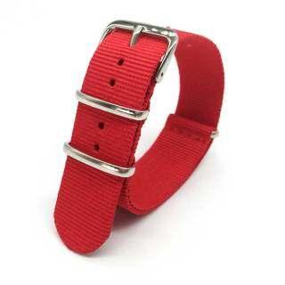 Nylon Strap Watchbands, Dây Đồng Hồ Màu Đỏ 18Mm 22Mm 24Mm, Dây Đeo Đồng Hồ Nam Dệt Nato Đồng Hồ Đeo Tay Nam Dây Đeo Nữ thumbnail