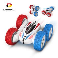 Deerc DE35 Xe ô tô điều khiển từ xa có thể xoay lật 360° thiết kế đèn pha 4 bánh xe in 2 màu 4WD dành cho bé trai và bé gái phù hợp dùng làm quà tặng – INTL