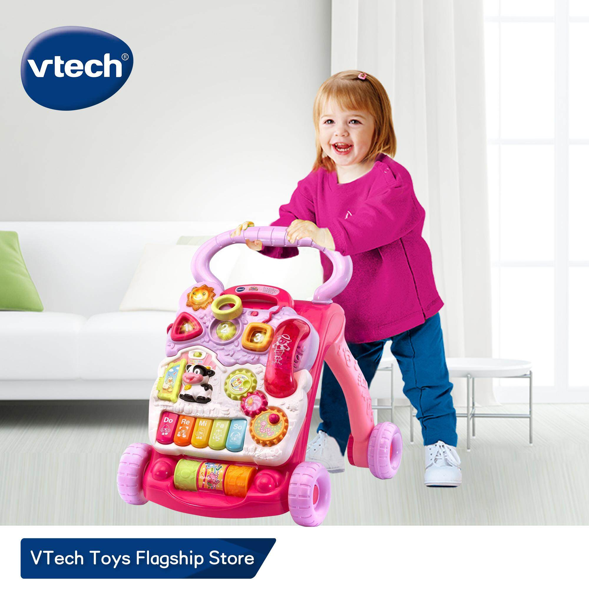 VTech Pink Color Baby Walker【US & Europe #1】with Speed Control, Music, Educational Learning SIt-to-Stand Learning Walker Toys for 9 - 36 Months Baby Infant Toys 1 years