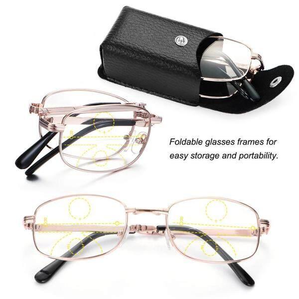 Giá bán Kình viễn thị gấp gọn  + 1.00 ~ + 4.00 gọng kim loại sang trọng bao gồm kính râm