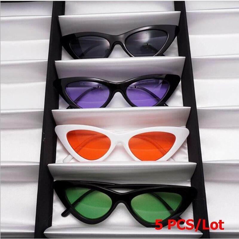 Dtwl Harga Grosir! 2019 Penjualan Terlaris Wanita Kecil Mata Kucing Kacamata Hitam Segitiga Bintang Kacamata Hitam Uniseks UV400 Eyewears 5 Buah/BANYAK