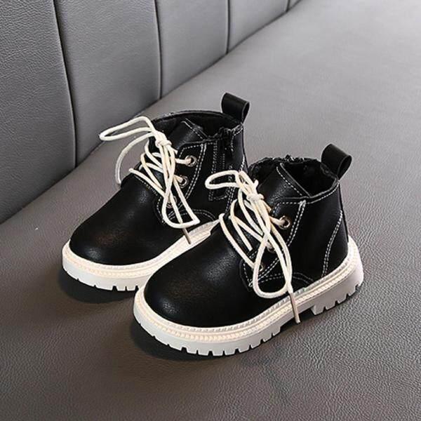 Giá bán Huadoaka Boots đối với trẻ em giày búp bê cô gái cho trẻ em dép cho trẻ em gái Trẻ Em Kid Bé Cô Gái Chàng Trai Mắt Cá Chân Thể Thao Zip Khởi Động Ngắn Bootie Giản Dị Giày