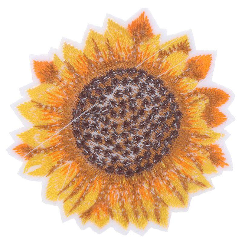 Yellow Sunflower Sew on//Iron on Embroidered  Patch Diy Craft Clothes Applique