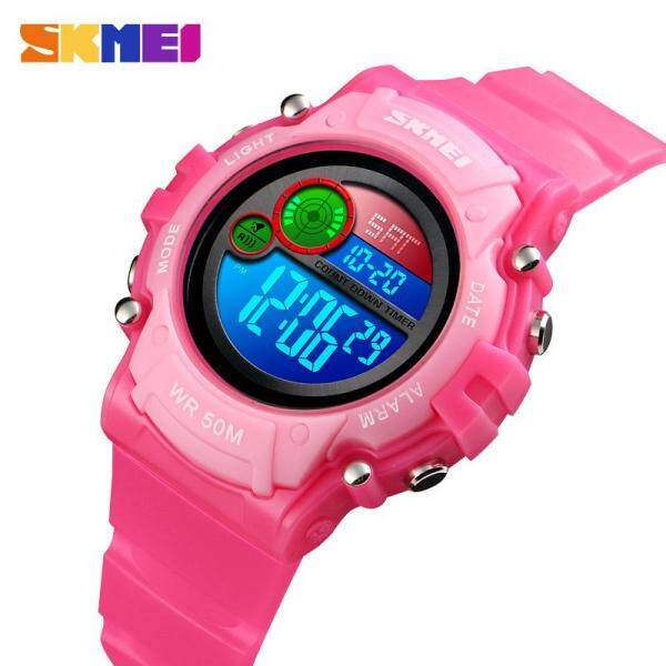 SKMEI New Kids Sports Watch Girls Children Watches Multifunction Alarm LED Digital Waterproof Boys Wristwatches  jam tangan kanak kanak Malaysia