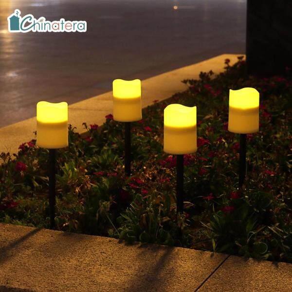 [Chinatera] Đèn LED Năng Lượng Mặt Trời Đèn Nến Ngọn Lửa Đèn Cọc Bãi Cỏ Ngoài Trời Trang Trí Sân Vườn Lễ Hội