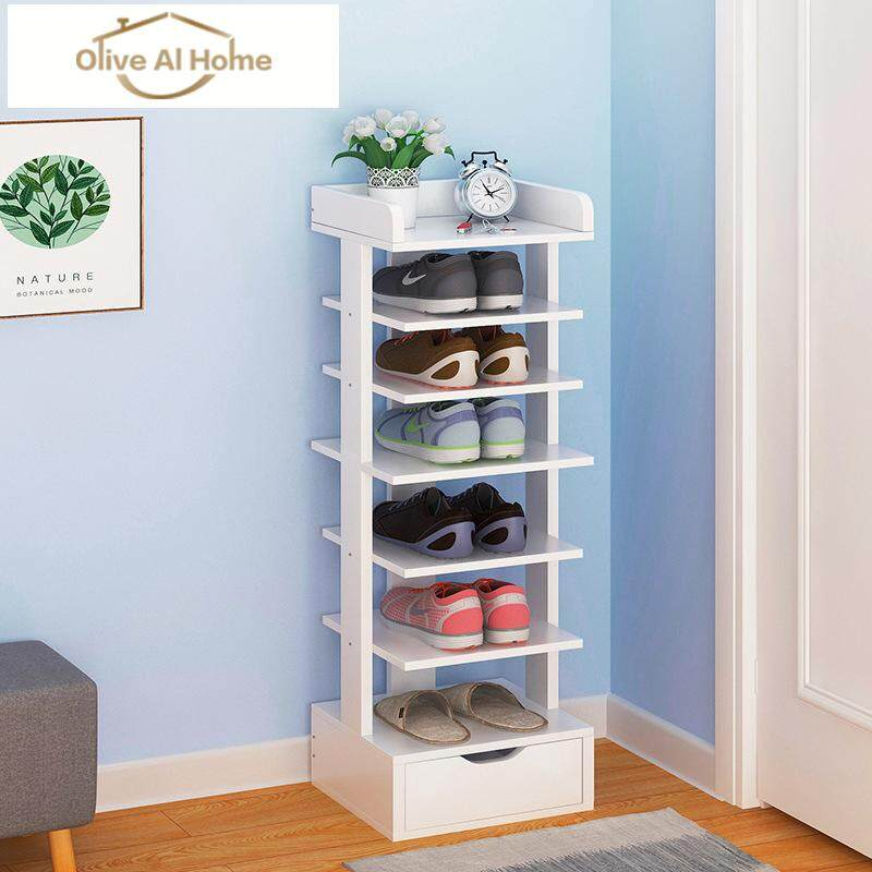 Wooden Shoe Rack 7 Layers Entrance Shoe Rack by Olive Al Home
