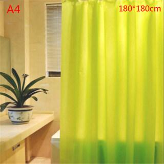 Rèm Tắm Zhuying, Vòng Móc Không Thấm Nước Phòng Tắm Màu Trơn, Lớn Rộng Tắm A4 thumbnail