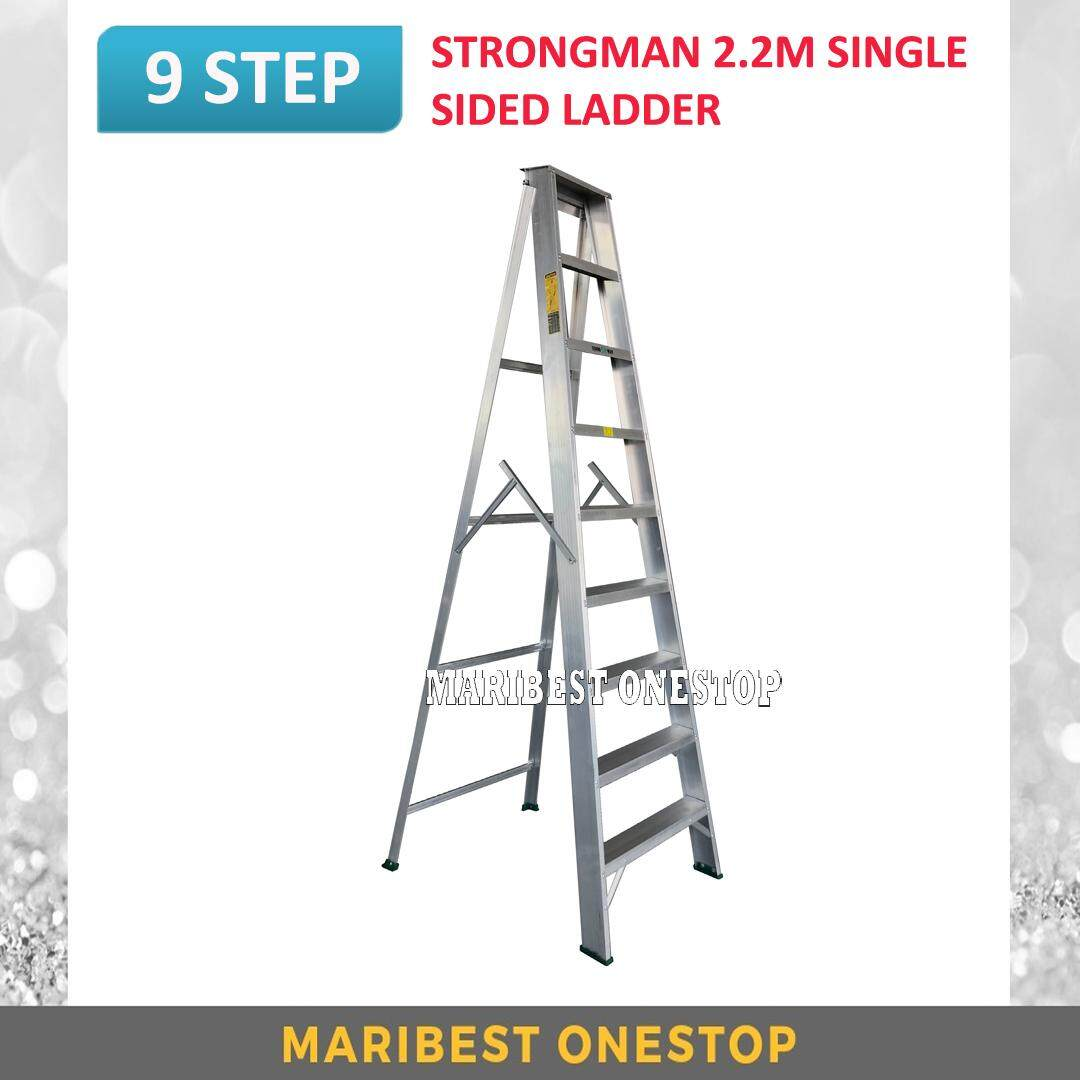 "STRONGMAN SS9 87"" Aluminium Single Sided 9 Steps Ladder"