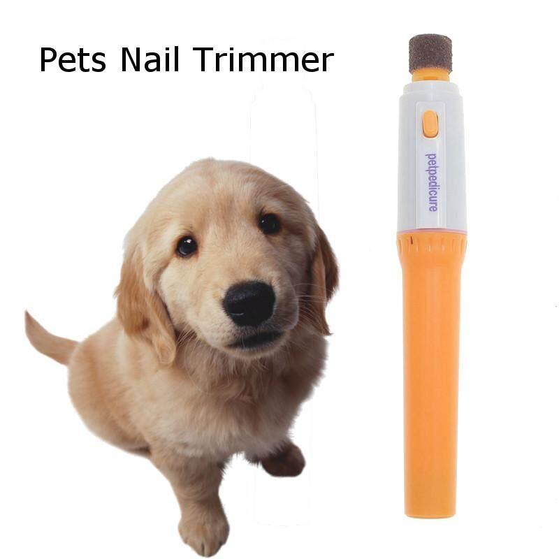 ไฟฟ้าแบบพกพาไม่เจ็บปวดคีมตัด Clipper สุนัขอุ้งเท้าแมวกรรไกรตัดเล็บตัดสัตว์เลี้ยงตะไบบด Kit กรูมมิ่งผลิตภัณฑ์ By Teamwin.