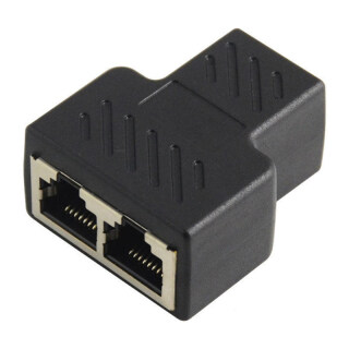 NIEN Cáp Mạng Ethernet 1 Đến 2 LAN, Đầu Nối Bộ Chuyển Đổi Phích Cắm Chia RJ45 thumbnail