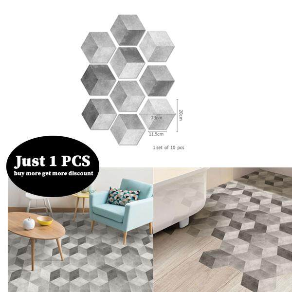 Top Deals Grey Cement Pattern Tile Floor Plaster PVC Self Adhesive Sticker Kitchen Home Restaurant Hotel 3D Marble Background Wallpaper