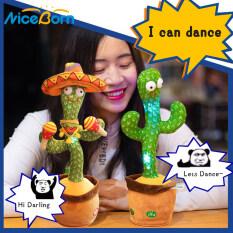 NiceBorn Xương Rồng Nhảy Múa Xương Rồng Lắc Điện Tử Vui Nhộn Đồ Chơi Nhồi Bông Dễ Thương Đồ Chơi Giáo Dục Đồ Chơi Nhồi Bông Với 120 Bài Hát Để Trang Trí Nhà Cửa Và Trẻ Em Chơi