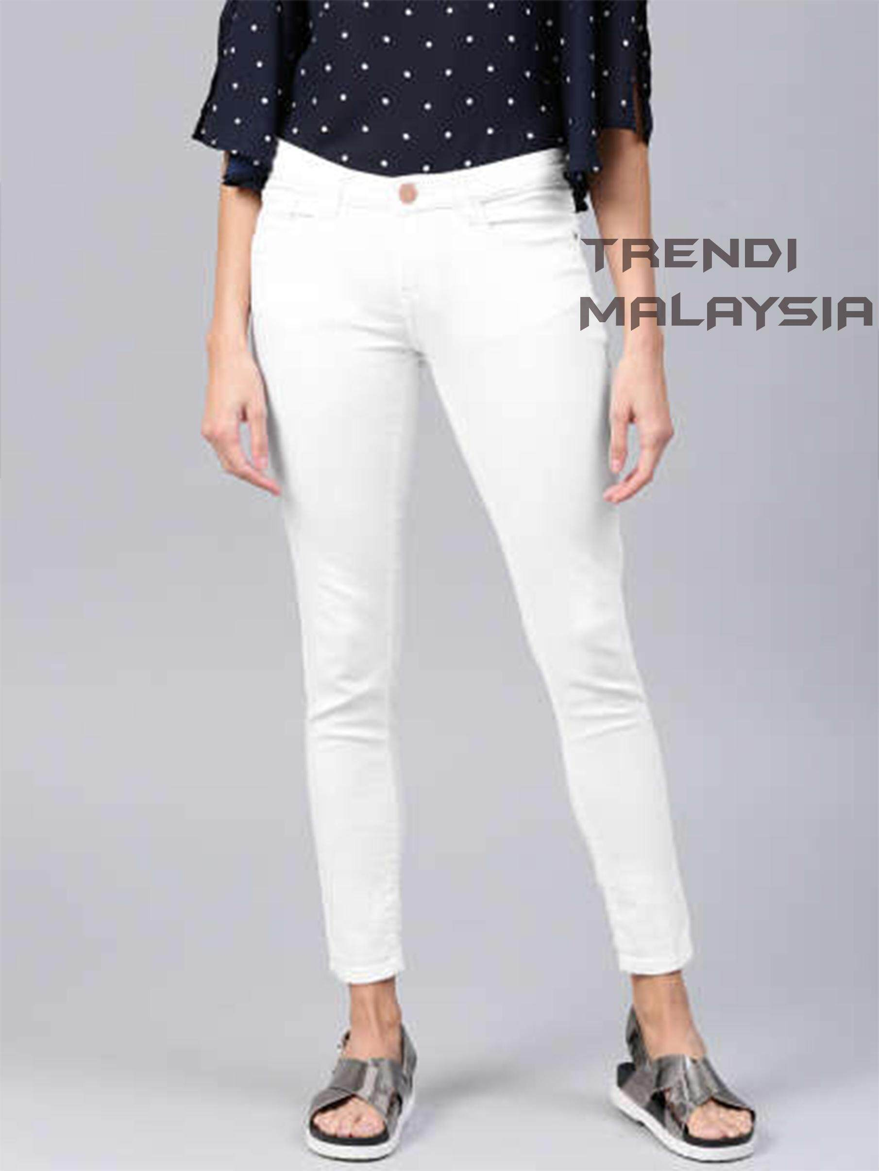WOMEN WHITE JEANS IN MALAYSIA   2-3 DAYS FAST DELIVERY IN MALAYSIA   ELASTIC 326444da683b