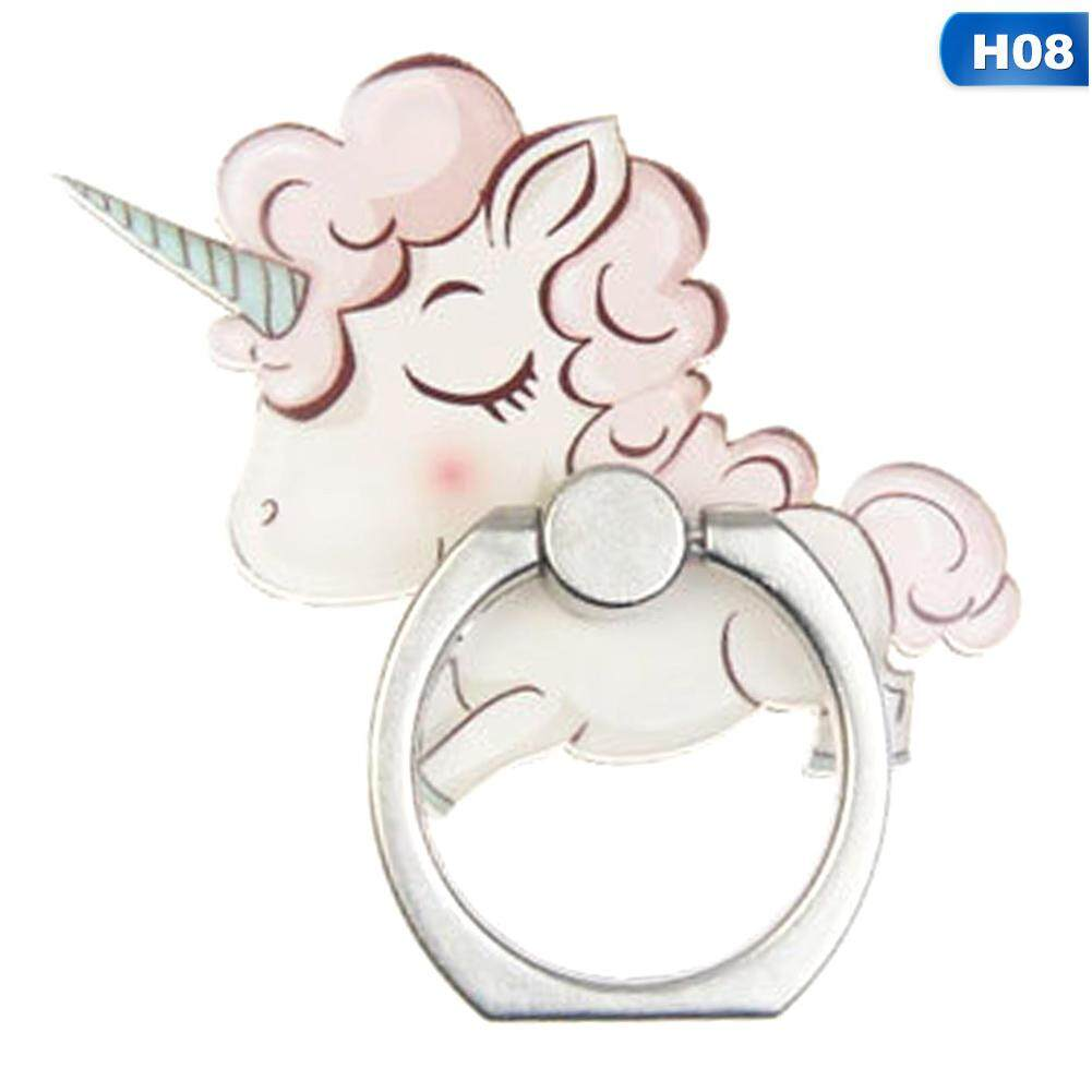 Mobile Phone Holders & Stands Mobile Phone Accessories Acrylic Cartoon Unicorn Mobile Phone Stand Holder Unicorn Finger Ring Mobile Smartphone Holder Stand For Iphone Huawei All Phone
