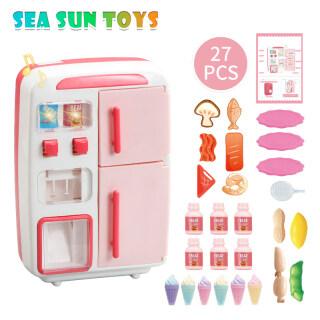 SEA & SUN Đồ Chơi Lắp Ghép Tủ Lạnh Bằng Điện Cho Trẻ Em Đồ Chơi Nhà Bếp Mô Phỏng Đèn Sương Mù Có Nhạc Máy Bán Hàng Tự Động Vui Nhộn thumbnail