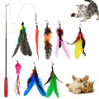 9 Chiếc Chuông Trêu Ghẹo Mèo Thú Cưng Công Viên Accieey Cần Câu Co Giãn Lông Vũ, Gậy Chơi, Đồ Chơi Tương Tác thumbnail