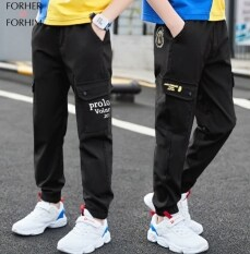 FORHER FORHIM Children's Boy Pants Summer 2020 New Fashion boy Summer thin Section loose Sports trousers FH0394