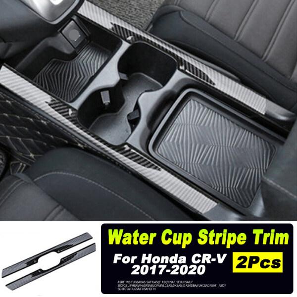 2 Chiếc Giá Để Cốc Nước ABS Kiểu Sợi Cacbon Sọc Bìa Trim Cho CR-V Honda CRV 2017-2020, Nội Thất Phụ Kiện