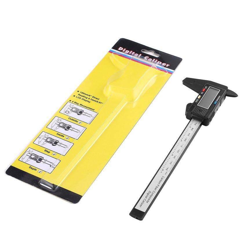 TOP(Clearance SALE)Electronic Digital Caliper Inch/Metric Conversion 0-6 Inch/150 mm Carbon Fiber Gauge LCD Display Screen Measuring Tool
