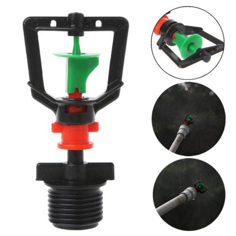 10pcs 1/2 Inch Thread Plastic Irrigation System Rotating Micro Sprinkler Nozzle