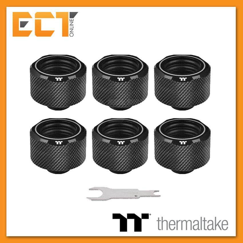 Thermaltake Pacific C-Pro G1/4 Petg Tube 16mm Od Compression – Black (6-Pack Fittings) Cl-W214-Cu00bl-B By Ect Online.