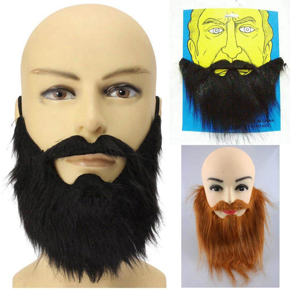 1* Festival Supplies Costume Party Halloween Facial Hair Fancy Dress Fake Beard Moustache Wig