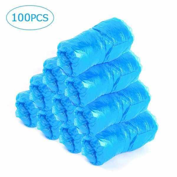 100 Pcs Shoe Cover Disposable Shoe Cover Dustproof Shoe Covers Waterproof Shoe Covers for Home Office Floor Protection (Standard)