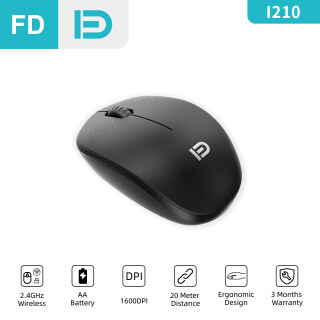 [NEW] FD I210 Wireless Mouse, 2.4G USB Basic Mice, Silent Click, 1600DPI, For Laptop PC Computer Phone Notebook thumbnail