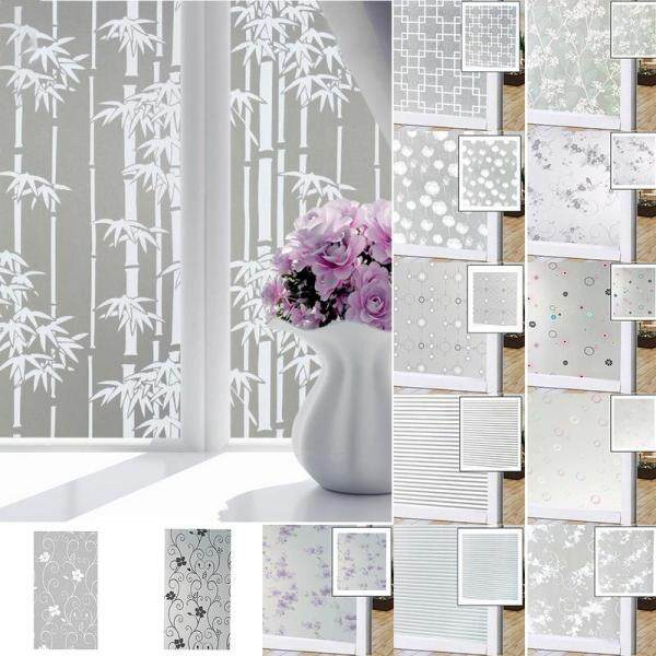 New Self Adhesive Film Waterproof PVC Frosted Glass Opaque Window Privacy Film Sticker Bedroom Bathroom Home Decor Film 60x100cm