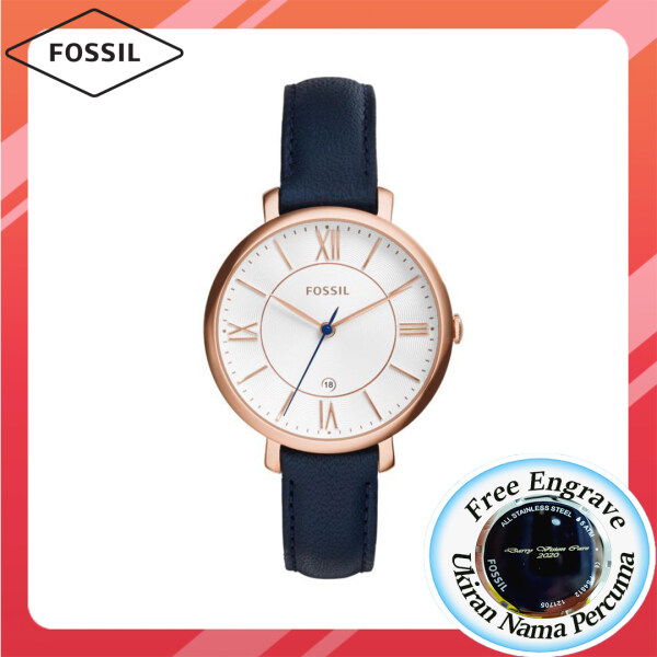 [FREE ENGRAVE]Original Fossil Womens Jacqueline Rose Gold tone 36mm Watch ES3843 Malaysia